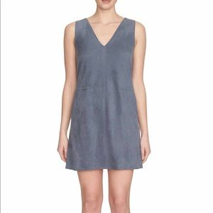 1. State Faux Suede dress with Pockets